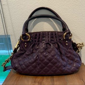 Marc Jacobs Dark Purple Leather Quilted Purse